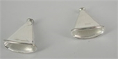 Sterling Silver 16x15mm flattened cone 2 pack-caps and cones-Beadthemup