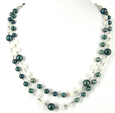 Sterling Silver Moonstone & Pearl Necklace-necklaces-Beadthemup