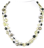 Sterling Silver Pearl, Spinel & Citrine Ncklace-necklaces-Beadthemup