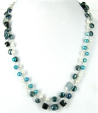 Sterling Silver Spinel, Chalcedony & Pearl-necklaces-Beadthemup