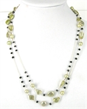 Sterling Silver Lemon Quartz, Spinel & Pearl-jewellery-Beadthemup