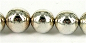 Sterling Silver Plated Resin Round Bead Med-resin-Beadthemup