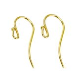9ct Gold Sheppard Hooks per Pair 15mm-gold-Beadthemup