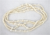 Fresh Water Pearl Knotted Necklace 160cm White-jewellery-Beadthemup