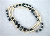 Fresh Water Pearl Knotted Necklace 160cm White/B-jewellery-Beadthemup