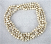 Fresh Water Pearl Knotted Necklace 156cm White-jewellery-Beadthemup