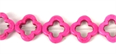 Howlite Recon Flower 20mm Hot Pink beads per strand 2-beads incl pearls-Beadthemup