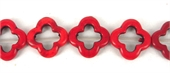 Howlite Recon Flower 20mm Red beads per strand 21Beads-beads incl pearls-Beadthemup