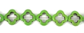 Howlite Recon Flower 20mm Green beads per strand 21Bead-beads incl pearls-Beadthemup