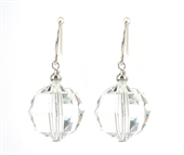 Sterling Silver & Swarovski Earrings 30mm-jewellery-Beadthemup