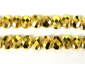 Gold plate Pyrite Faceted Flat Coin 12x14mm-pyrite-Beadthemup