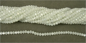 Chinese Crystal 4x3mm 140 beads White AB-chinese crystal-Beadthemup