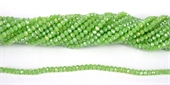 Chinese Crystal 4x3mm 140 beads Dark Mint-chinese crystal-Beadthemup