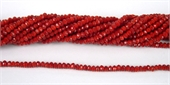 Chinese Crystal 4x3mm 140 beads Dark Red-chinese crystal-Beadthemup
