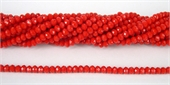 Chinese Crystal 4x3mm 140 beads Red-chinese crystal-Beadthemup
