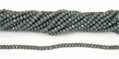 Chinese Crystal 4x3mm 140 beads Grey-chinese crystal-Beadthemup