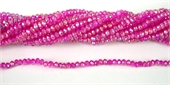 Chinese Crystal 4x3mm 140 beads Hot Pink-chinese crystal-Beadthemup