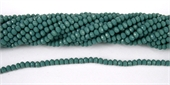 Chinese Crystal 4x3mm 140 beads Teal-chinese crystal-Beadthemup