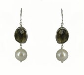 Laura Labradorite & Pearl Earrings-jewellery-Beadthemup