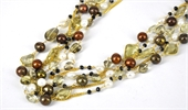 Vermeil, Lemon Quartz, Pearl & Spinel 1m-necklaces-Beadthemup