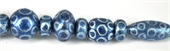 Glass Bead Mix Blue 22cm strand 17Beads-glass beads-Beadthemup