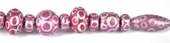 Glass Bead Mix Pink 22cm strand 17Beads-glass beads-Beadthemup