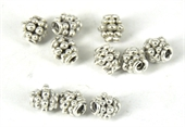 Sterling Silver Plate Copper Bead 6x6mm 10 pack-beads-Beadthemup
