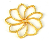 Gold plate  Copper Connecter Flower 31mm 4 pack-gold plate copper-Beadthemup