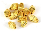 Gold plate  Copper Bead Olive 13x8mm 10 pack-gold plate copper-Beadthemup