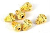 Gold plate  Copper Bead Teardrop 13x9mm 6 pack-gold plate copper-Beadthemup