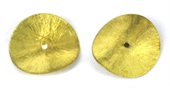 Gold plate  Copper Bead Curve disk 26mm 6 pack-gold plate copper-Beadthemup