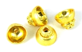 Gold plate  Copper cap 9x12mm 4 pack-gold plate copper-Beadthemup