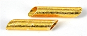 Gold plate  Copper Bead Tube 45x9mm 2 pack-gold plate copper-Beadthemup