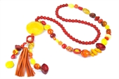 Golden Sunset Tassel neck KIT 80cm +drop-bead inspired projects-Beadthemup