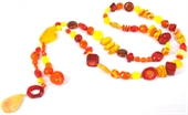 Golden Sunset Necklace KIT 80cm+drop-bead inspired projects-Beadthemup
