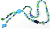 Seaside Sunset Necklace 80cm+drop-necklaces-Beadthemup