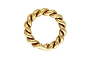14k Gold Filled 4mm twist jump ring 10 pack-14k gold filled-Beadthemup