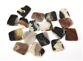 Agate 36x32mm Carved  trapezoid Each-agate-Beadthemup