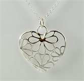 Sterling Silver Pendant Heart NO Chain-pendants-Beadthemup