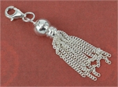 Sterling Silver 45mm tassel incl Clasp Short-925 sterling silver-Beadthemup