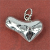 Sterling Silver Pendant Heart 12x20mm-pendants and charms-Beadthemup