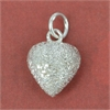 Sterling Silver Pendant Heart Stardust 10mm 2 pack-pendants and charms-Beadthemup