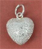 Sterling Silver Pendant Heart Stardust 12mm 1 pack-pendants and charms-Beadthemup