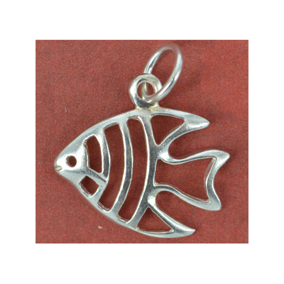 Sterling Silver Pendant Fish 19x16mm