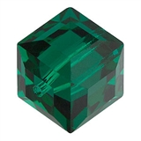 Swarovski 5601 Cube 8mm Emerald 2 pack-beads-Beadthemup