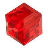 Swarovski 5601 Cube 8mm Light Siam 2 pack-beads-Beadthemup
