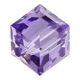 Swarovski 5601 Cube 8mm Tanzanite 2 pack-beads-Beadthemup