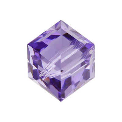 Swarovski 5601 Cube 8mm Tanzanite 2 pack