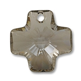 Swarovski 6866 20mm Crystal Satin 1 pack-cross pendants-Beadthemup