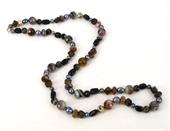 Sterling Silver Grey & Brown 90cm necklace-necklaces-Beadthemup